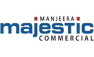 Manjeera Majestic – Commercial, abutting the 120' wide JNTU-Hitech City road