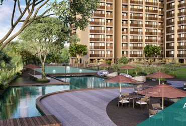 Arvind Oasis, Where your home is nestled between soothing water-bodies and serene greenery.